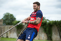 Matt Banahan of Bath Rugby in action during a Bath Rugby photoshoot on June 21, 2016 at Farleigh House in Bath, England. Photo by: Rogan Thomson for Onside Images