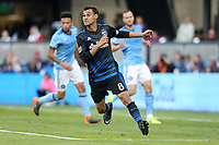 San Jose, CA - Saturday March 31, 2018: Chris Wondolowski during a Major League Soccer (MLS) match between the San Jose Earthquakes and New York City FC at Avaya Stadium.