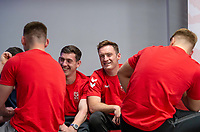 Picture by Allan McKenzie/SWpix.com - 24/04/2018 - Rugby League - RFL EPS Headshots - Village Hotels, Bury, England - England EPS and Knights players relax at camp, Tom Gilmore.
