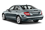 Rear three quarter view of 2014 Mercedes C Class Luxury Stock Photo