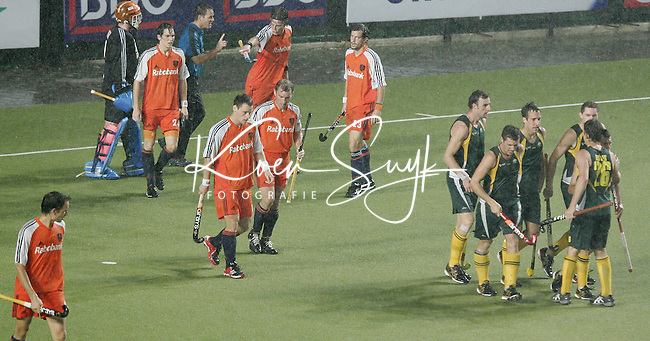 CHENNAI-Champions Trophy hockey mannen. Australie is op 0-2 gekomen , zondag tijdens de finalewedstrijd Nederland-Australie. ANP PHOTO KOEN SUYK
