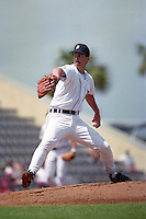 Detroit Tigers pitcher Tom Bolton (49) during Spring Training 1993 at Joker Marchant Stadium in Lakeland, Florida.  (MJA/Four Seam Images)