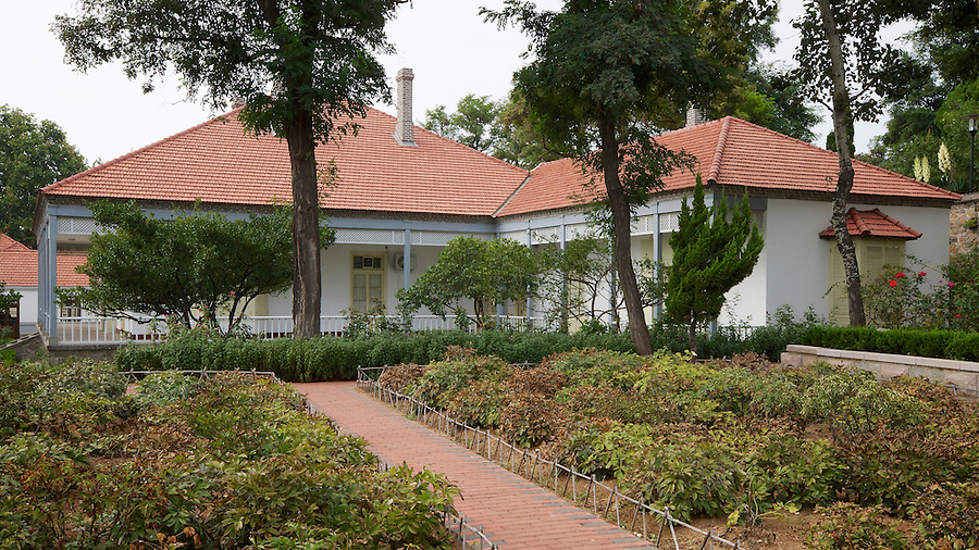 Side View Of The Inspector General's Summer Bungalow (And Garden) In Yantai (Chefoo).