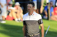 Justin Rose (ENG) finishes on the 18th green during Thursday's Round 1 of the 2018 Turkish Airlines Open hosted by Regnum Carya Golf &amp; Spa Resort, Antalya, Turkey. 1st November 2018.<br /> Picture: Eoin Clarke | Golffile<br /> <br /> <br /> All photos usage must carry mandatory copyright credit (&copy; Golffile | Eoin Clarke)