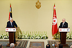 Tunisian President Beji Caid Essebsi and Palestinian President Mahmoud Abbas hold a joint press conference at Carthage Palace, near Tunis, on July 6, 2017. Abbas is on 2 day official visit to Tunisia. Photo by Thaer Ganaim