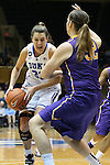 19 December 2013: Duke's Haley Peters (33) and Albany's Megan Craig (NZL) (32). The Duke University Blue Devils played the University at Albany, The State University of New York Great Danes at Cameron Indoor Stadium in Durham, North Carolina in a 2013-14 NCAA Division I Women's Basketball game. Duke won the game 80-51.