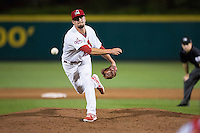 Heath Wyatt (34) of the Springfield Cardinals delivers a pitch during a game against the Northwest Arkansas Naturals at Hammons Field on August 20, 2013 in Springfield, Missouri. (David Welker/Four Seam Images)