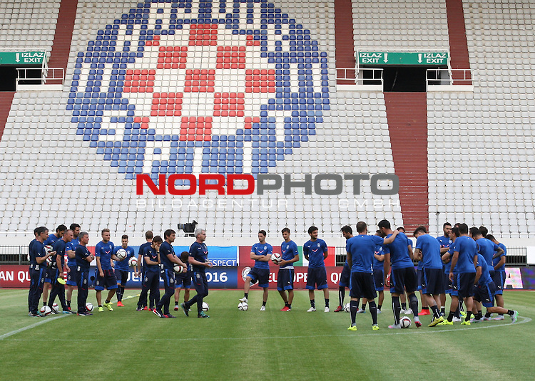 11.06.2015., Croatia, Split - Training of the Italian national football team in preparation for tomorrow's qualifying match with Croatia on Poljud. <br /> Foto &copy;  nph / PIXSELL / Ivo Cagalj
