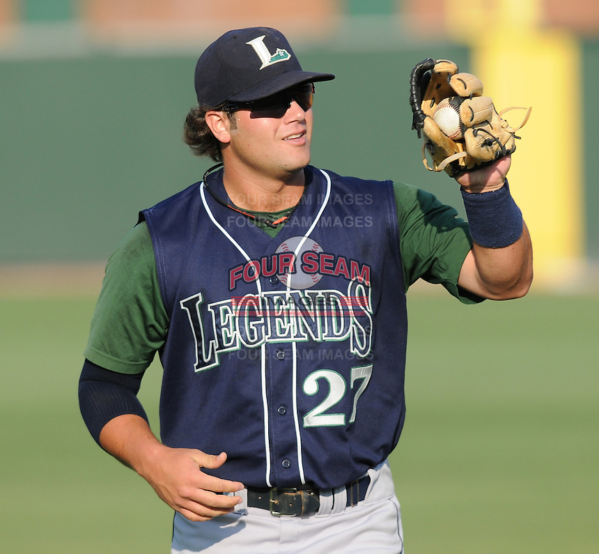 June 19, 2009: Infielder Kyle Miller (27) of the Lexington Legends, Class A affiliate of the Houston Astros, in a game against the Greenville Drive at Fluor Field at the West End in Greenville, S.C. Photo by: Tom Priddy/Four Seam Images