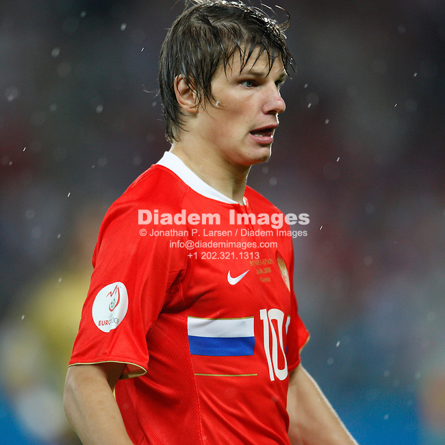 VIENNA - JUNE 26:  Andrei Arshavin of Russia during a UEFA Euro 2008 semi final match against Spain June 26, 2008 at Ernst Happel Stadion in Vienna, Austria.