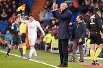 Real Madrid's coach Zinedine Zidane during La Liga match between Real Madrid and Real Sociedad at Santiago Bernabeu Stadium in Madrid, Spain. January 29, 2017. (ALTERPHOTOS/BorjaB.Hojas)