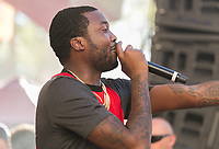 LAS VEGAS, NV - August 27, 2017: ***HOUSE COVERAGE***MEEK MILL performs at REHAB Pool Party at Hard Rock Hotel & Casino in Las vegas, NV on ASugust 27, 2017. Credit: GDP Photos/ MediaPunch