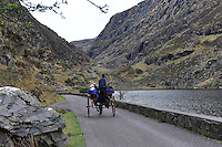 A ponyman make his way through the Gap iof Dunloe Killarney..Picture by Don MacMonagle