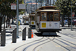 Cable cars line up on Taylor Street