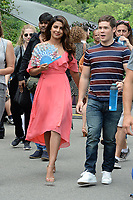www.acepixs.com<br /> July 11, 2017 New York City<br /> <br /> Priyanka Chopra and Adam Devine filming the movie 'Isn't It Romantic' in Central Park on July 11, 2017 in New York City.<br /> <br /> Credit: Kristin Callahan/ACE Pictures<br /> <br /> <br /> Tel: (646) 769 0430<br /> e-mail: info@acepixs.com