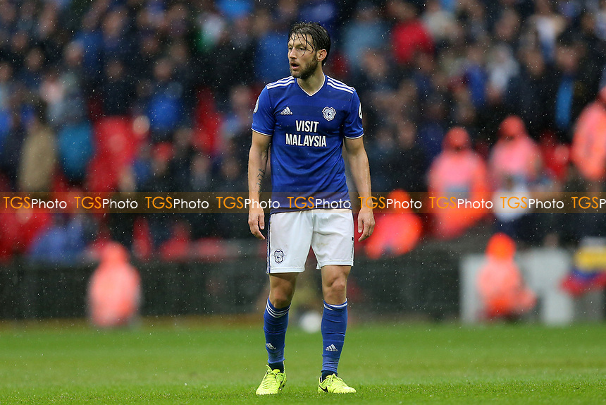 Harry Arter of Cardiff City during Tottenham Hotspur vs Cardiff City, Premier League Football at Wembley Stadium on 6th October 2018