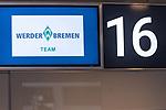 05.07.2020, Bremen Airport Hans Koschnick, Bremen, GER, Werder Bremen - Airpirt Bremen Abflug Relegation 02 - Heidenheim, <br /> <br /> Reisecrew des SV Werder Bremen auf dem Bremer Flughafen / Airport auf dem Weg zum 2. Relegationsspiel am 06.07.2020 in Heidenheim. Auf dem Airport alle mit Sicherheitsabstand und mit CORONA Gesichtsmaske<br /> <br /> <br />  im Bild<br /> <br /> Feature Gate 16 Abflug Schalter<br /> <br /> <br /> Foto © nordphoto / Kokenge