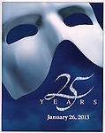 'Phantom of the Opera' - 25 Years on Broadway Gala Performance at the Majestic Theatre in New York City on 1/26/2013