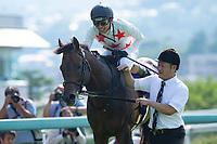 TAKARAZUKA,JAPAN-JUNE 24: Mikki Rocket,ridden by Ryuji Wada,after winning the Takarazuka Kinen at Hanshin Racecourse on June 24,2018 in Takarazuka,Hyogo,Japan (Photo by Kaz Ishida/Eclipse Sportswire/Getty Images)
