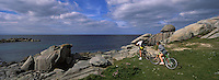 Europe/france/Finistère/Cleder: VTT sur la cote rocheuse