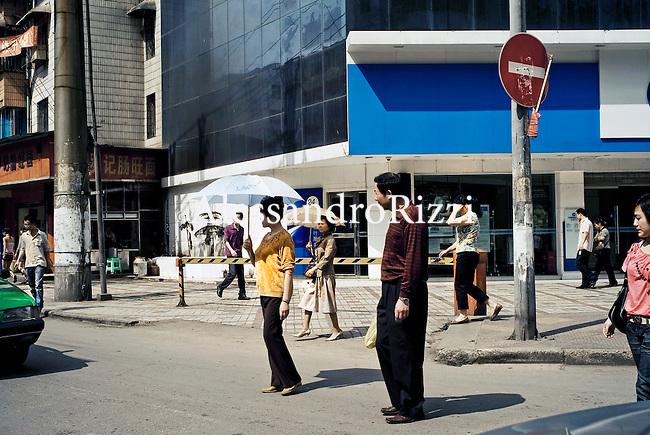 People crossing the road