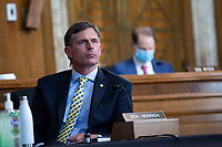 United States Senator Martin Heinrich (Democrat of New Mexico) listens during the United States Senate Committee on Energy and Natural Resources hearing on wildfire management in the midst of COVID-19 on Capitol Hill in Washington D.C., U.S., on Tuesday, June 9, 2020. Credit: Stefani Reynolds / CNP/AdMedia