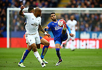 Riyad Mahrez of Leicester City during the Barclays Premier League match between Leicester City and Swansea City played at The King Power Stadium, Leicester on 24th April 2016
