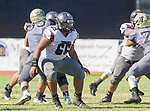 Palos Verdes, CA 09-07-18 - Jalen Iereneo (Torrance #65) in action during the Torrance - Palos Verdes Peninsula Varsity football game.