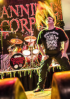 Cannibal Corpse performs at the House of Blues in New Orleans, LA.