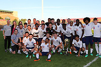 England U21's celebrate winning the 2018 Trophy during Mexico Under-21 vs England Under-21, Tournoi Maurice Revello Final Football at Stade Francis Turcan on 9th June 2018