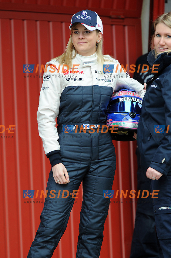 Formula 1: Test  Barcellona  19/02/2013.SUSIE WOLF WILLAMS F1 TEAM TEST DRIVER AMBIANCE PORTRAIT .Foto Panoramic / Insidefoto .ITALY ONLY