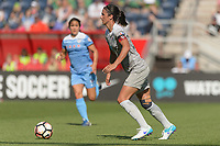 Bridgeview, IL - Saturday May 27, 2017: Abby Erceg during a regular season National Women's Soccer League (NWSL) match between the Chicago Red Stars and the North Carolina Courage at Toyota Park. The Red Stars won 3-2.