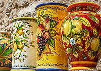 Italien, Kampanien, Ravello: handgemachte Vasen | Italy, Campania, Ravello: handmade ceramics