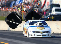 Oct 4, 2013; Mohnton, PA, USA; NHRA pro stock driver Steve Kent during qualifying for the Auto Plus Nationals at Maple Grove Raceway. Mandatory Credit: Mark J. Rebilas-