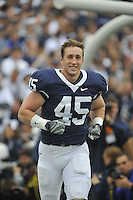 14 November 2009:  Penn State LB Sean Lee (45) runs out during senior day, his last home game at Beaver Stadium.  The Penn State Nittany Lions defeated the Indiana Hoosiers 31-20 at Beaver Stadium in State College, PA..