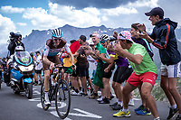Romain Bardet (FRA/AG2R La Mondiale) up the Col du Galibier (HC/2622m/23km@5.1%)<br /> <br /> Stage 18: Embrun to Valloire (208km)<br /> 106th Tour de France 2019 (2.UWT)<br /> <br /> ©kramon