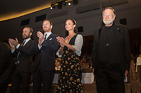 Michael Fassbender, Alicia Vikander &amp; Jack Thompson at the premiere of The Lights Between Oceans at the 2016 Venice Film Festival.<br /> September 1, 2016  Venice, Italy<br /> Picture: Kristina Afanasyeva / Featureflash