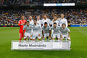 1st October 2017, Santiago Bernabeu, Madrid, Spain; La Liga football, Real Madrid versus Espanyol; Real Madrid Team Group Line-up