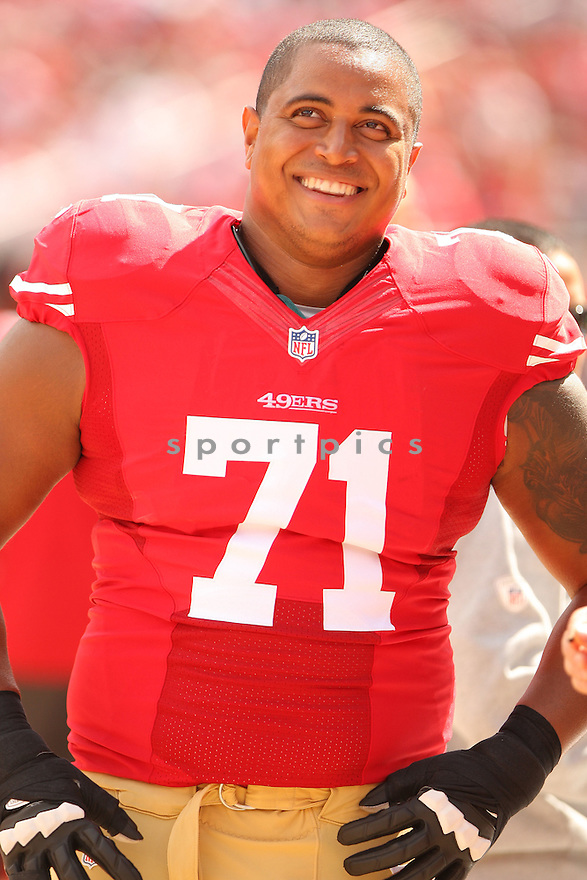 San Francisco 49ers Jonathan Martin (71) during a game against the Philadelphia Eagles on September 28, 2014 at Levi's Stadium in Santa Clara, CA. The 49ers beat the Eagles 26-21.