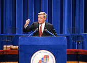 United States Vice President President Walter Mondale delivers his speech accepting his party's nomination for reelection as Vice President President of the United States at the 1980 Democratic National Convention in Madison Square Garden in New York, New York on August 13, 1980.<br /> Credit: Arnie Sachs / CNP