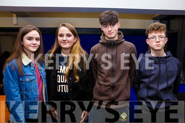 Participating in the Kerry Scor Na nOg in Austin Stack Park on Thursday evening last are, representing Killarney Legion, l-r, Orla O'Connor, Rebecca Walsh, Owen O'Sullivan and Owen Benson.