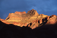 The sun sets over the GRAND CANYON NATIONAL PARK near SHINUMO CREEK (Mile 108) - ARIZONA