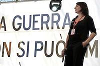 Roma 2 Aprile 2011.Piazza Navona.Manifestazione per la pace e contro la guerra promossa da Emergency .Cecilia  Strada