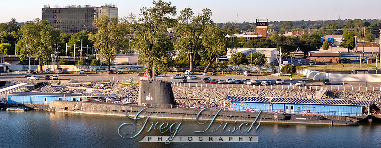 The USS Razorback submarine is  housed at the Arkansas in land maritime museum in North Little Rock Arkansas.