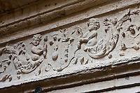Europe/France/Aquitaine/24/Dordogne/Périgueux: Escalier à vis de l'Hôtel Fayard ou Maison  Estignard _détail de la façade renaissance sur cours