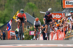 Demi Vollering (NED) Parkhotel Valkenburg crosses the finish line in 5th with Katarzyna Niewiadoma (POL) Canyon-SRAM 6th atop Mur de Huy at the end of La Fl&egrave;che Wallonne Femmes 2019, running 118.5km from Huy to Huy, Belgium. 24th April 2019<br /> Picture: Thomas Van Bracht/PelotonPhotos | Cyclefile<br /> All photos usage must carry mandatory copyright credit (&copy; Cyclefile | Thomas Van Bracht/PelotonPhotos)