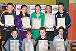 POETRY: Poetry writers from Ballyduff Central National School, who were winners at Listowel Writers Week and were presented  with their certificates on Tuesday at the school. Front l-r: Darragh Browne, Sarah Treacy, Ciaran ORegan and Sophie Houlihan. Back l-r: Ian Lawlor, Nicole OConnor, Laura Oliver, Shauna Kissane and Maurice Treacy..