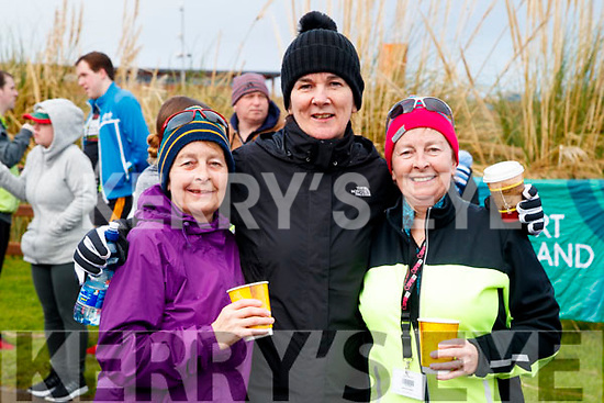 Josephine O'Shea (Ballymac) with Hilda Jones and Gemma O'Shea (Tralee), pictured at the Operation Transformation Walk at Tralee Bay Wetlands on Saturday morning last.