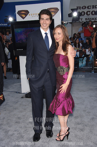 "Actor BRANDON ROUTH & girlfriend COURTNEY at the world premiere of his new movie ""Superman Returns"" in Los Angeles..June 21, 2006  Los Angeles, CA.© 2006 Paul Smith / Featureflash"
