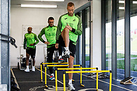 Mike van der Hoorn of Swansea City in the gym during the Swansea City Training Session at The Fairwood Training Ground in Swansea, Wales, UK. Wednesday 16 October 2019